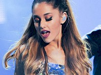 Ariana Grande Silver Panty Flash!