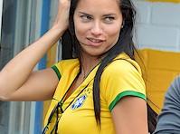 Adriana Lima in a Brazil Jersey!