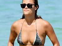 Nina Agdal Bikini Candids!