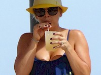 Kaley Cuoco Bikini Candids!