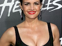 Carla Gugino Cleavage at Hercules Premiere!