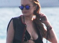 Lindsay lohan uncensored upskirt