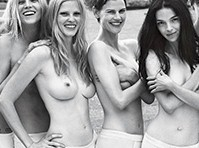 Kate Moss and Other Models Topless for W Magazine!