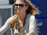 AnnaLynne McCord Panty Upskirt on a Bike!