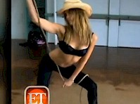 Jessica Alba Rehearsing Stripper Moves!