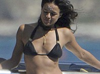 Michelle Rodriguez in a Black Bikini!
