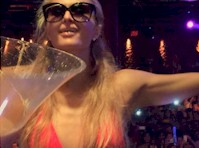 Paris Hilton did the Ice Bucket Challenge