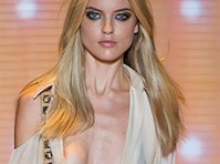 Martha Hunt Slight Nip Slip on the Runway!