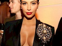 Kim Kardashian Cleavage in Paris!