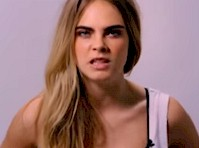 Video of Cara Delevingne Grabbing Her Boobs!