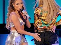 Jennifer Lopez Touches Iggy Azalea's Booty in Concert!