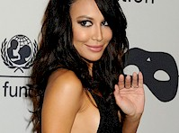 Naya Rivera in a Slinky Black Dress!