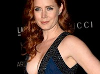 Amy Adams Cleavage in a Blue Dress!