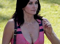 Courteney Cox Cougar Cleavage!