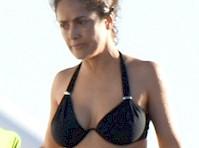 Salma Hayek Bikini Candids on a Boat!