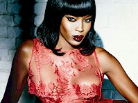 Naomi Campbell Modeling Lingerie for Agent Provocateur!