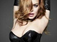 Lindsay Lohan in Lingerie for Homme Style!