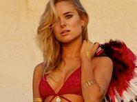 Kimberley Garner Posing in a red Bikini!
