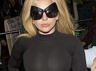 Lady Gaga's Boobs in a Tight Top!
