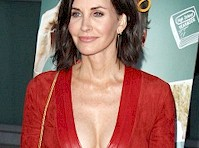 Courteney Cox Cleavage at Just Before I Go Premiere!