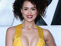 Nathalie Emmanuel's Cleavage is Furious!