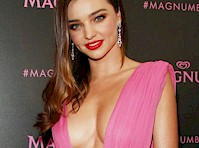 Miranda Kerr's Cleavage in Pink!