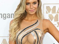 Samantha Hoopes Cleavage at Magic Mike XXL Premiere!