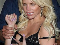 Jessica Simpson is Drunk and Grabbing Boobs!
