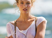Candice Swanepoel Wet See Through Outtakes!