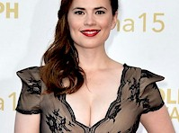 Hayley Atwell Cleavage at 55th Monte Carlo TV Festival!