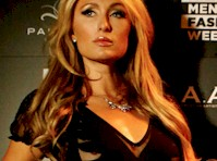 Slight Paris Hilton Nip Slip in Milan!
