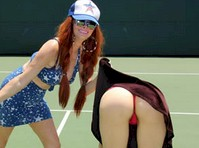 Phoebe Price and Alicia Arden Plays Tennis!