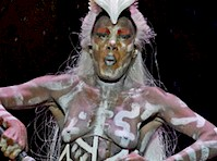 Grace Jones Performs Topless in Body Paint!