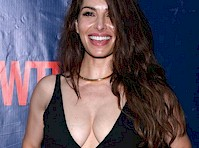Sarah Shahi Showed Cleavage for the Press!