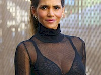 Halle Berry Wears Bra and Sheer Top on Kimmel!