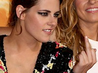Kristen Stewart's Deep Cleavage at American Ultra Premiere!