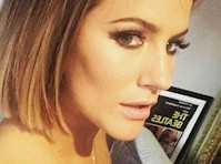 Caroline Flack Topless Selfie on Instagram!