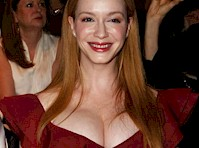 Christina Hendricks' Cleavage at a New York Fashion Show!