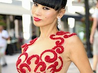 Bai Ling in See Through Birthday Dress!