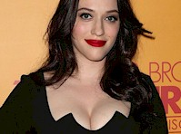 Kat Dennings' Cleavage Celebrated 100 Episodes of 2 Broke Girls!