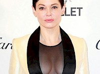 Rose McGowan Showing Sheer Cleavage!