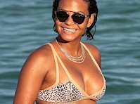 Christina Milian Bikini Candids from Miami!