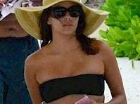 Eva Longoria in Tiny Bikini Bottom!