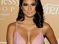 Diane Guerrero is Busty in a Pink Dress!