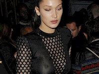Bella Hadid in a See Through Dress!