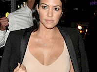 Kourtney Kardashian's Newly Single Cleavage!