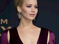 Jennifer Lawrence Cleavage at The Hunger Games: Mockingjay Part 2 Premiere!