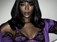 Naomi Campbell Modeled Lingerie!