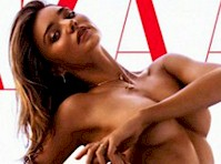 Miranda Kerr Posing Nude (but covered) for Harper's Bazaar Australia!