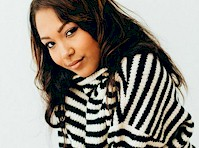 Parker Mckenna Posey in a Striped Sweater!